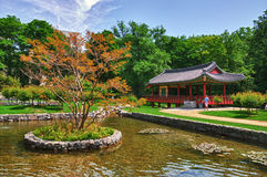 Korean Garden in the Uni Campus Westend Royalty Free Stock Photography