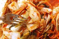 Korean Gimchi som göras av blandninggrönsaken arkivfoton
