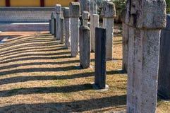 Korean gravestones Stock Photos