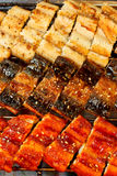 Korean Grilled Eel in 3 styles Royalty Free Stock Photo