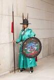 Korean Guard In Teal Uniform Stock Images