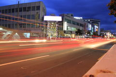 Korean Jeju street after sunset Royalty Free Stock Images