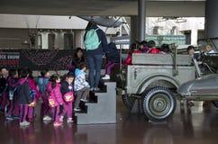 Korean kids in War Memorial of Korea royalty free stock image