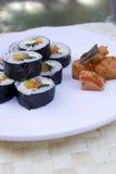 Korean kimbap and kimchi. Stock Image