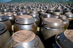 Korean Kimchi Pots Stock Images