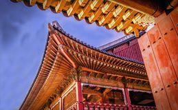 Korean king& x27;s conference hall Royalty Free Stock Image