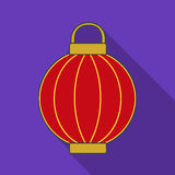 Korean lantern icon in flate style isolated on white background. South Korea symbol stock vector illustration. Stock Photos