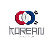 Korean Logo Concept Stock Photography