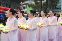 Korean Lotus Lantern Festival Royaltyfri Foto