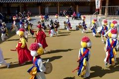 Korean Lotus Lantern Festival Arkivbild