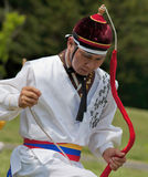 Korean Man Dancing at Cultural Celebration Stock Photography