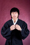Korean man in a traditional dress Stock Image