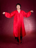 Korean man in a traditional dress Stock Photography