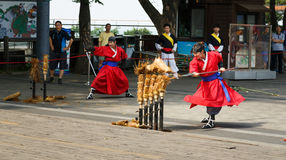 Korean Martial Fighting Battle Show Royalty Free Stock Photography