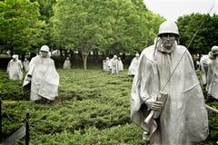 Korean Memorial. The Korean War memorial in Washington D.C Stock Images