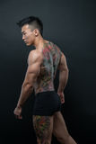 Korean model with tattoo Royalty Free Stock Photos
