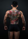 Korean model with tattoo stock image