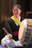 Korean musician. buk player. Stock Image