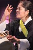 Korean musician. buk player. Stock Photos