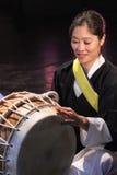 Korean musician. buk player. Royalty Free Stock Photography