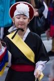 Korean musician. buk player. Royalty Free Stock Photo