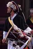 Korean musician. janggo player. Royalty Free Stock Photography