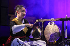 Korean musician.  jing player. Stock Image