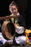 Korean musician.  jing player. Stock Images