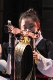 Korean musician.  jing player. Royalty Free Stock Photo