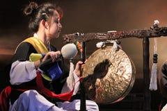 Korean musician.  jing player. Stock Image