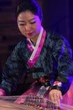Korean musician. kayagum player. Stock Photography