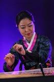 Korean musician. kayagum player. Stock Photos