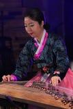 Korean musician. kayagum player. Royalty Free Stock Image