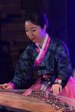 Korean musician. kayagum player. Stock Photo
