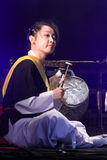Korean musician. kkwaenggwari player. Royalty Free Stock Photo