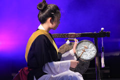 Korean musician. kkwaenggwari player. Royalty Free Stock Image