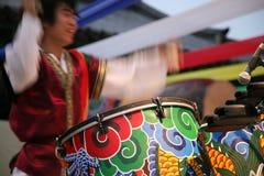 Korean musician in movement Stock Images