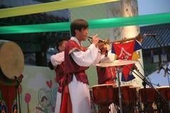 Korean musician in movement Stock Photography