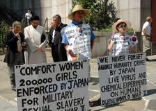 korean n nära nycprotestors u Royaltyfri Foto
