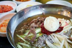 Korean noodles Royalty Free Stock Photo