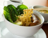 Korean noodles soup Royalty Free Stock Photo