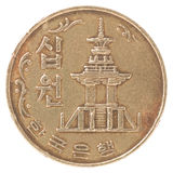 Korean old coin Royalty Free Stock Images