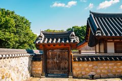 Korean old traditional house at Gyochon Hanok Village in Gyeongju, Korea