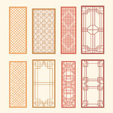 Korean old of Window Frame Symbol sets. Korean traditional Patte Stock Photography