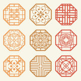 Korean old of Window Frame Symbol sets. Korean traditional Patte Stock Image