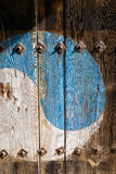 Korean old wooden door. Background Stock Photos