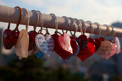 Korean Padlocks Royalty Free Stock Photos