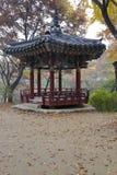 Korean pagoda in autumn color at Namsangol traditional folk village, Seoul, South Korea - NOVEMBER 2013 Stock Images