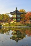 Korean Pagoda , Gyeongbokgung Palace Grounds. Lake and reflection of a Korean Pagoda at Gyeongbokgung Palace Grounds, Seoul, South Korea Stock Photos