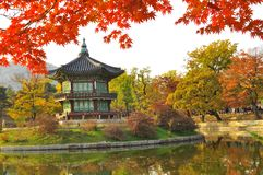 Korean Pagoda , Gyeongbokgung Palace Grounds Royalty Free Stock Images